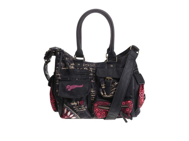 Barevná vzorovaná kabelka s kapsami Desigual Carr