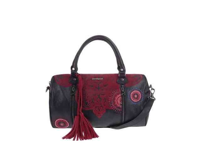Červeno-černá kabelka se vzory Desigual Sidney Kerala