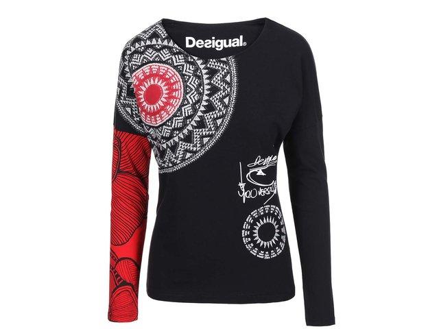 Černé tričko s dlouhými rukávy Desigual Fresh