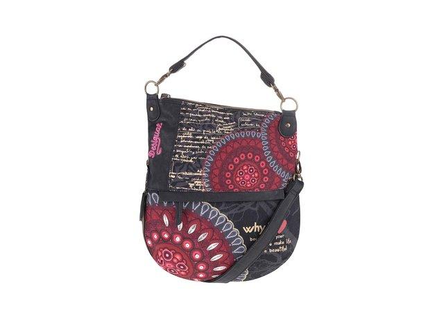 Červeno-černá crossbody kabelka se vzory Desigual Bolas Rojas