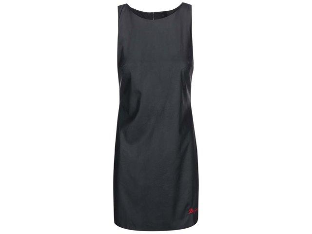 Černé koženkové šaty Desigual Circe