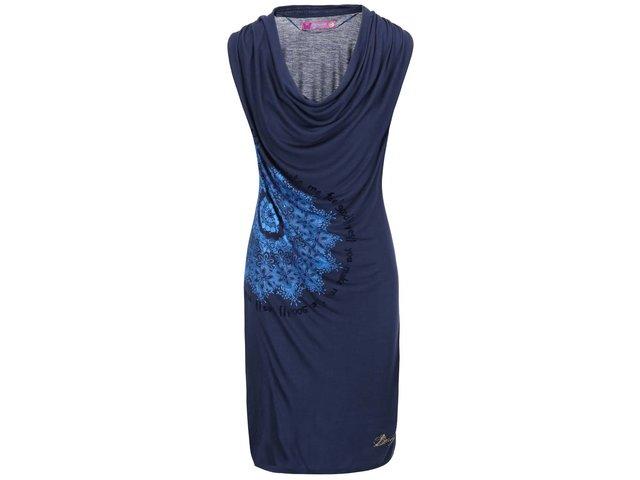 Modré šaty se vzorem Desigual Carol