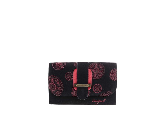 Červeno-černá peněženka s ornamenty Desigual