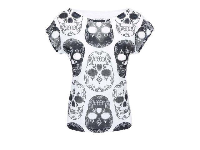 Černo-bílé dámské tričko ZOOT Originál Lebky