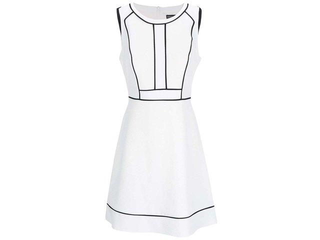 Krémové šaty s drobnou strukturou Dorothy Perkins