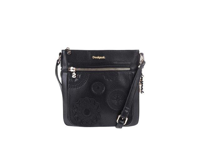 Černá crossbody kabelka s ornamentální výšivkou Desigual Moscu Alexa e4dc75c639d