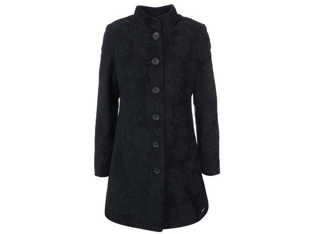 Černý vzorovaný kabát Desigual Eternity