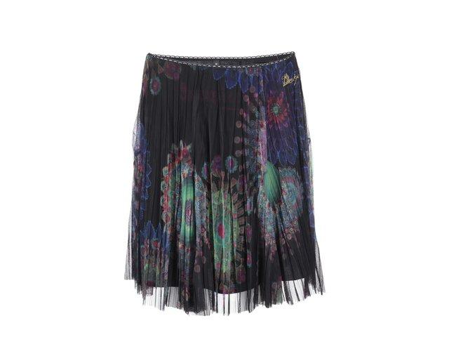 Černá sukně s barevným vzorem Desigual Lili