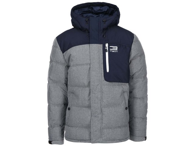 Modro-šedá bunda Jack & Jones Tech Brave