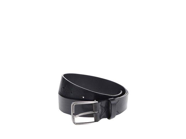 Černý hladký kožený pásek Jack & Jones Lassy