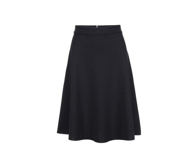 Černá áčková sukně VILA Punktual