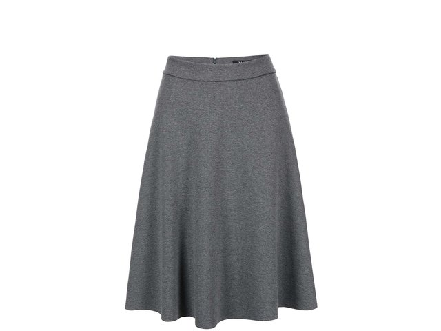 Šedá áčková sukně VILA Punktual