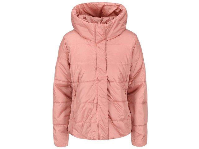 Růžová bunda s vysokým límcem ICHI Ursa