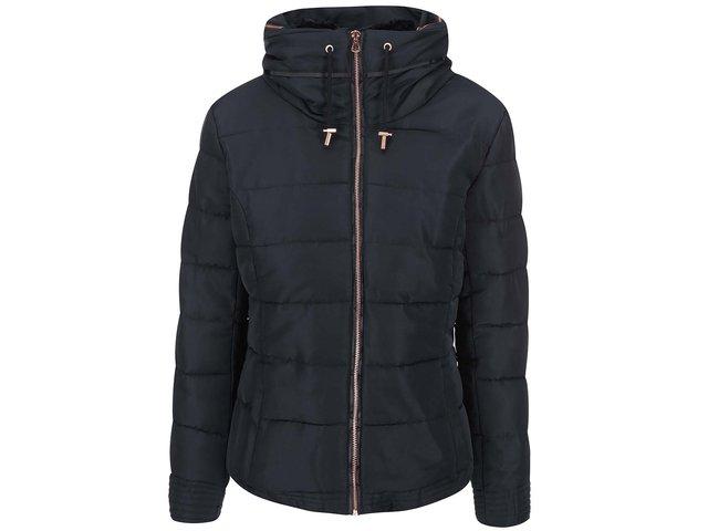 Černá bunda s kapucí ICHI Snappi