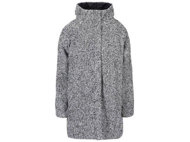 Černo-bílý kabát ICHI Tanna