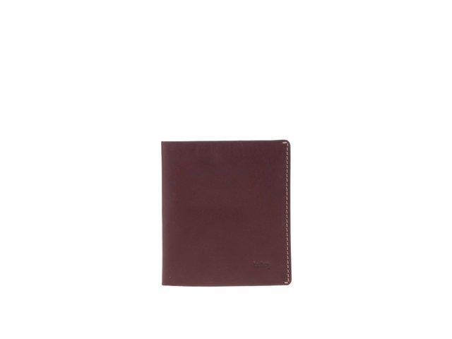 Hnědovínová kožená peněženka Bellroy Note Sleeve