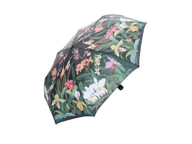 Zelený deštník s tropickými květinami Blooming Brollies