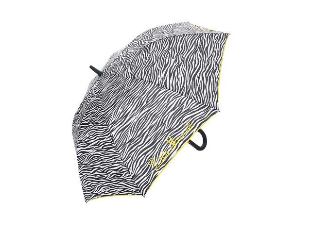 Bílo-černý velký deštník se zebřím vzorem Little Marcel Pamela