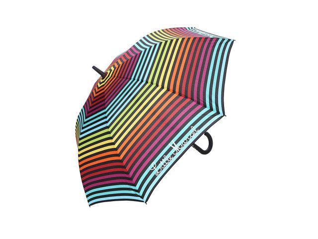 Barevný velký deštník s černými proužky Little Marcel Pamela