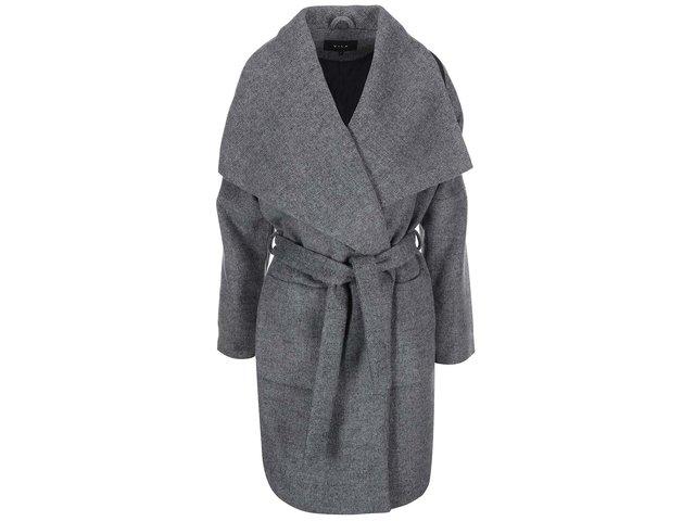 Šedý žíhaný kabát VILA Acel