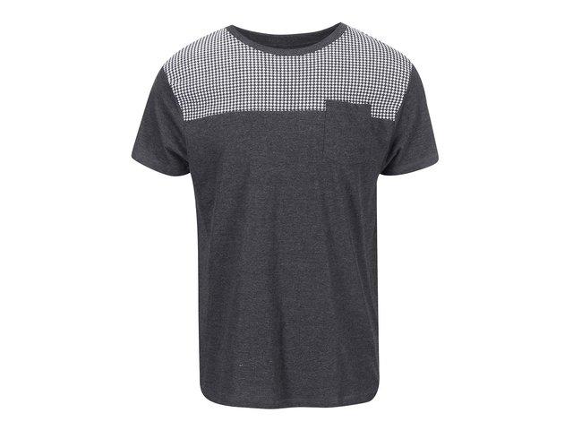 Černé triko s náprsní kapsou D-Struct Angus