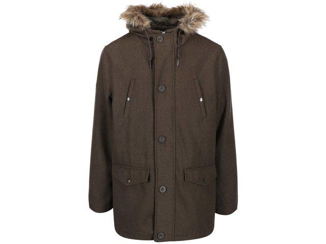 Khaki parka s kapucí D-Struct Nuffield
