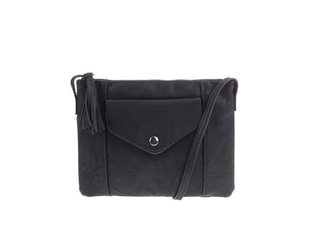 Černá menší kabelka s třásní Pieces Rancy