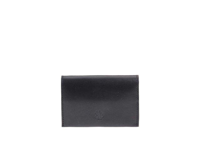 Černá kožená peněženka na drobné Pieces Lines