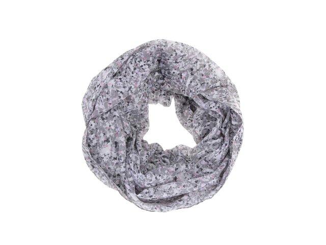 Šedý vzorovaný dutý šátek Pieces Vana