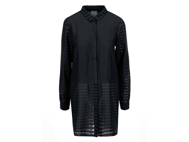 Černá delší košile Vero Moda Camella