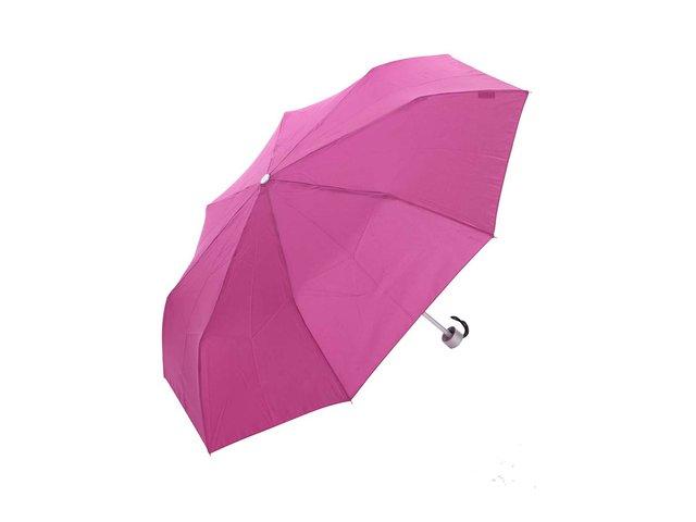 Růžovofialový skládací deštník Derby