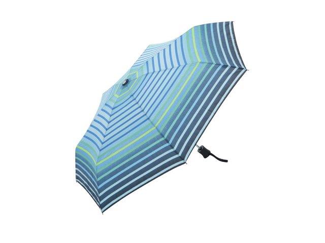 Modrý vystřelovací deštník s pruhy Derby