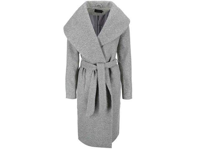 Světle šedý kabát ONLY Scoop