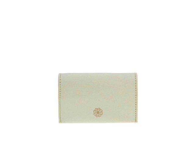Pastelově zelená kožená peněženka na drobné Pieces Lines