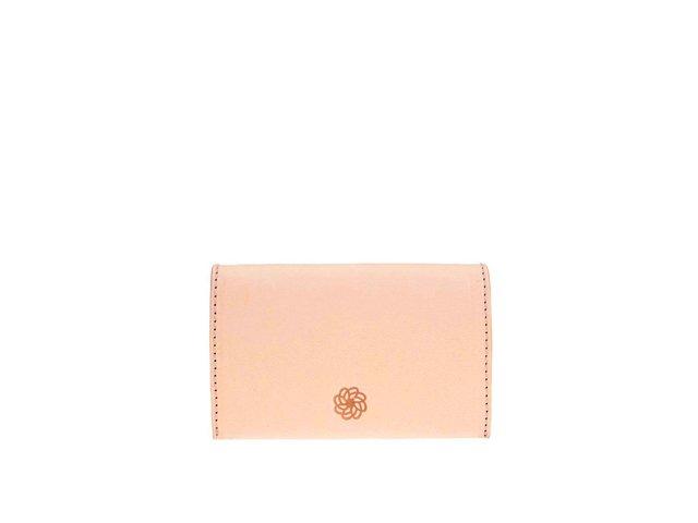 Meruňková kožená peněženka na drobné Pieces Lines
