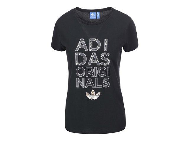 Černé dámské triko adidas Originals Animal