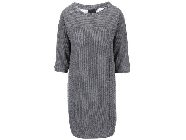 Šedé svetrové šaty ICHI Palo