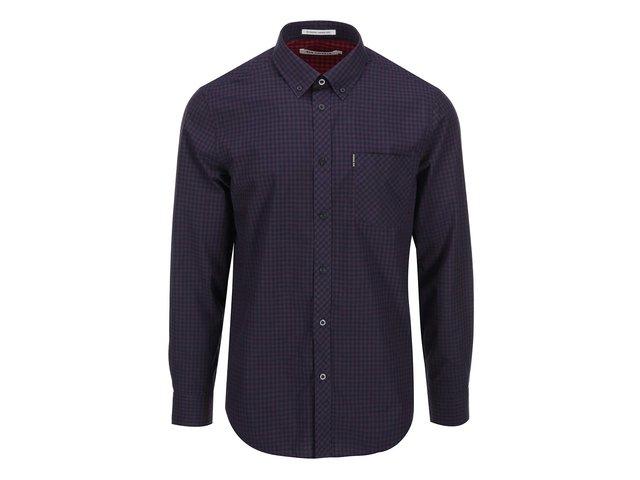 Tmavě fialová kostkovaná košile Ben Sherman