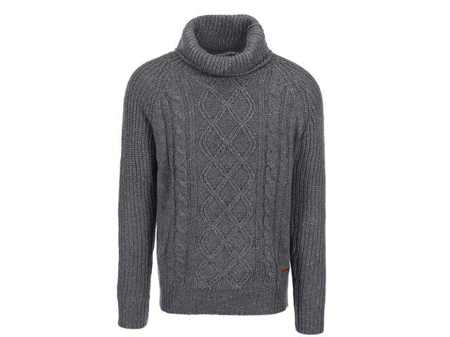 Šedý svetr s vysokým límcem ONLY & SONS Gabriel
