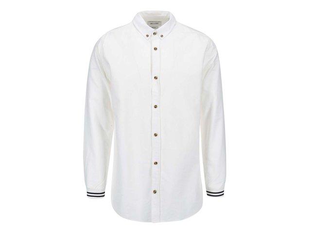 Bílá košile s detailem na rukávech ONLY & SONS Fionan