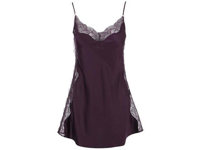 Fialová noční košilka s krajkou Lipsy