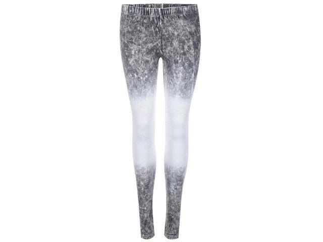 Bílo-šedé vzorované legíny Vero Moda Maxi My