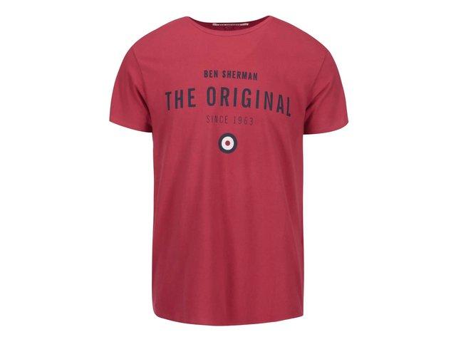 Červené triko s nápisem The Original Ben Sherman