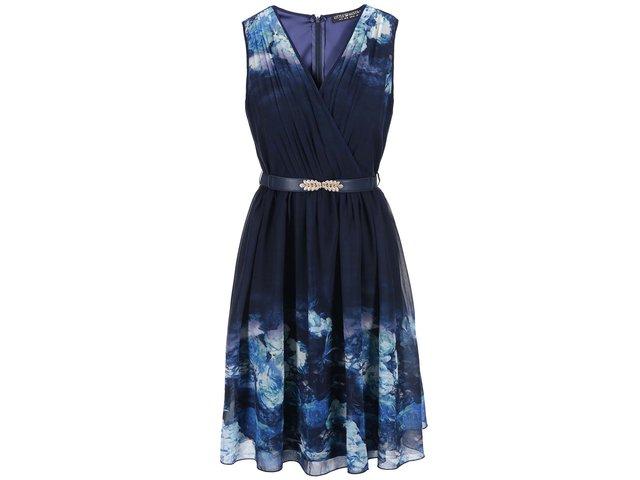 Tmavě modré šaty s potiskem Little Mistress