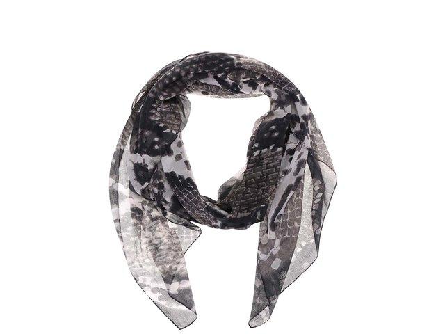 Šedý šátek s hadím vzorem Pieces Veze