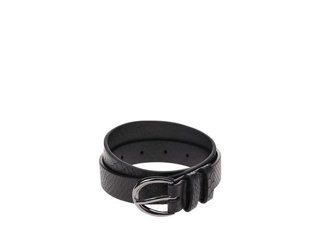 Černý vzorovaný pásek Pieces Velvet