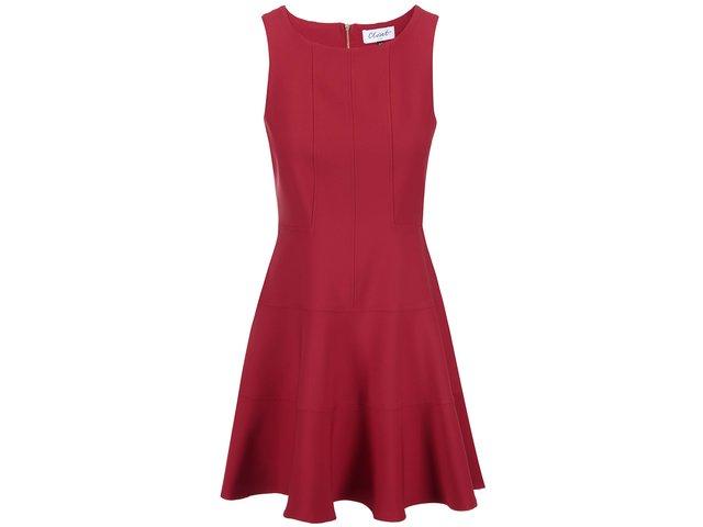 Červené šaty s nízkým pasem Closet