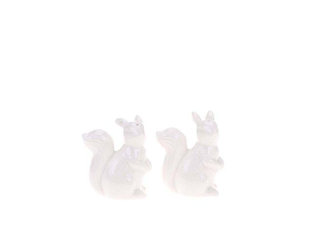 Bílá solnička a pepřenka ve tvaru veverky Sass & Belle