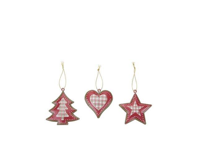 Set šesti kovových vánočních ozdob Sass & Belle