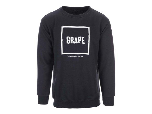 Černá unisex mikina s logem Grape